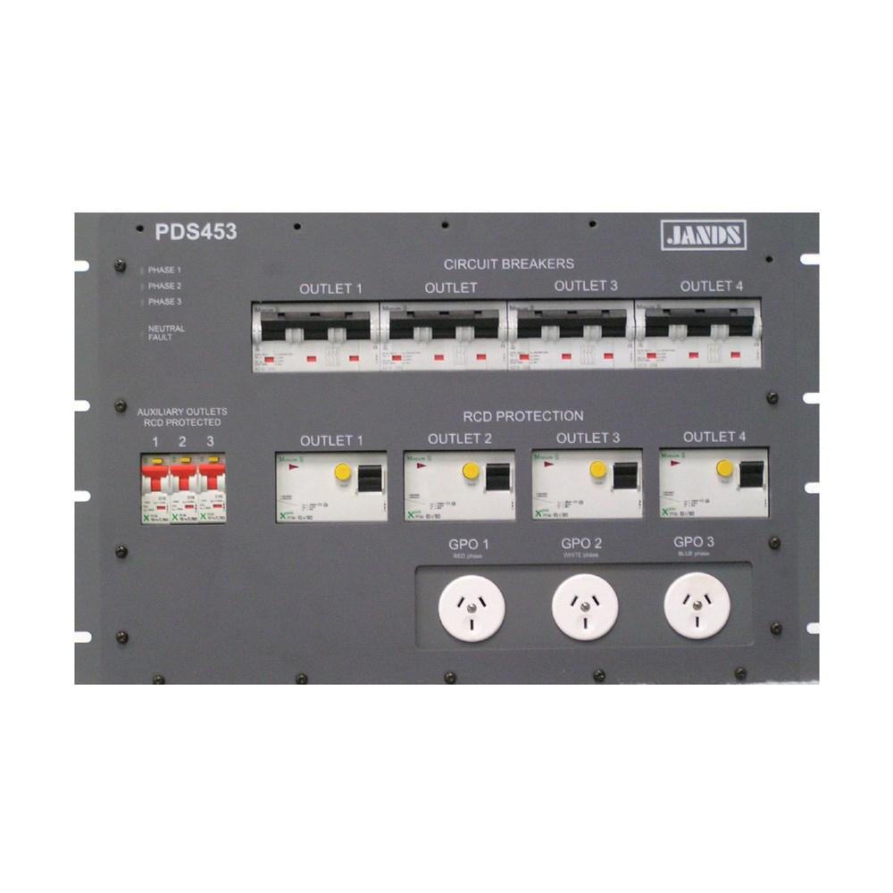 Jands pds453 power distribution system rack mount 7ru; 4 x 50 amp.