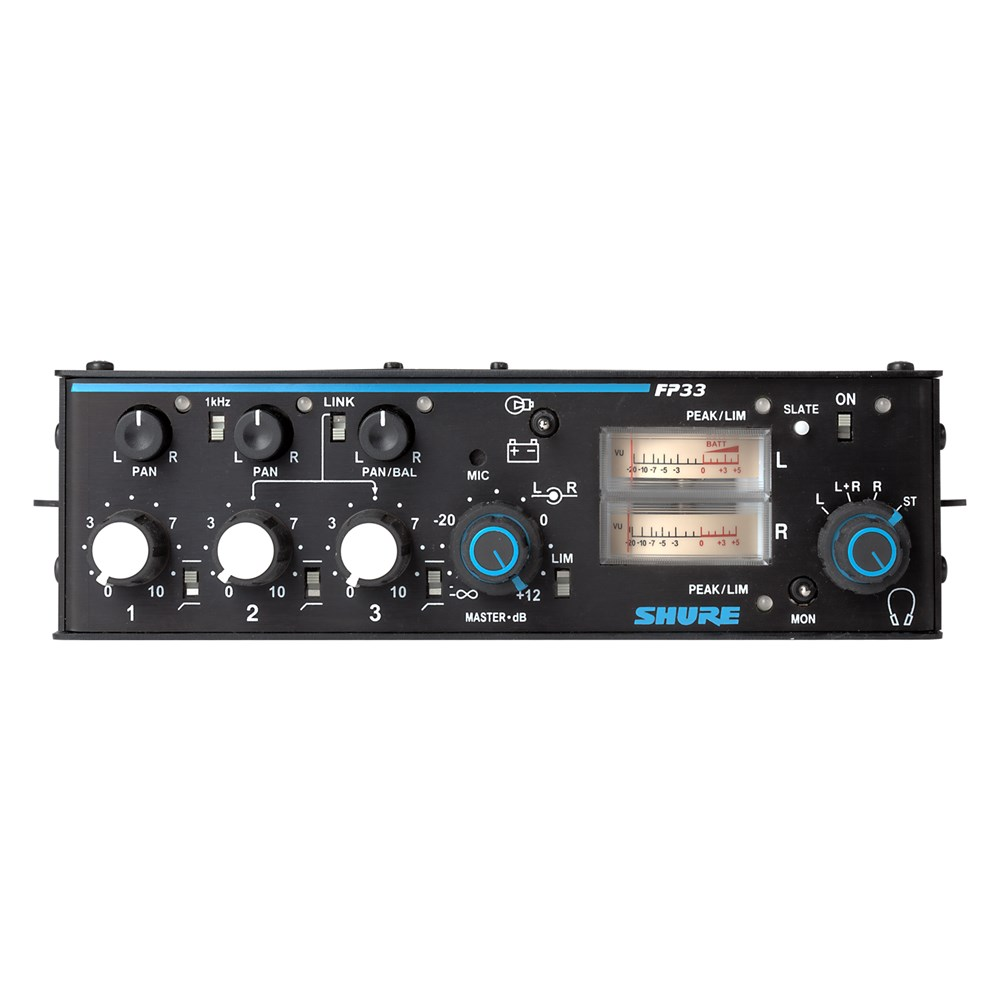 Shure FP33 3-channel Portable Mixer | Jands